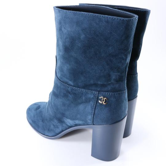 Chanel Teal Fall blue Boots Image 3