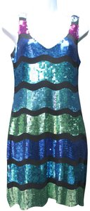 As U Wish Sequin Stretchy Lined Dress