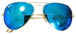 Ray-Ban Blue Flash Aviator Sunglasses - Authentic