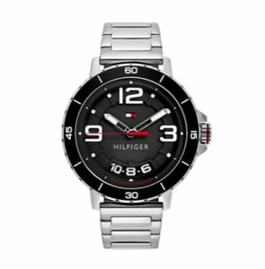 Tommy Hilfiger Tommy Hilfiger Men's Quartz Stainless Steel Casual Watch Silver Black
