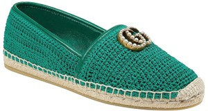 Gucci Princetown Loafer Mule Slide green Flats