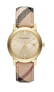 Burberry New Burberry Women's Bu9026 The City Haymarket Check Watch