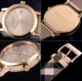 Burberry New Burberry Women's Bu9026 The City Haymarket Check Watch Image 1