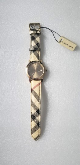 Burberry New Burberry Women's Bu9026 The City Haymarket Check Watch Image 3
