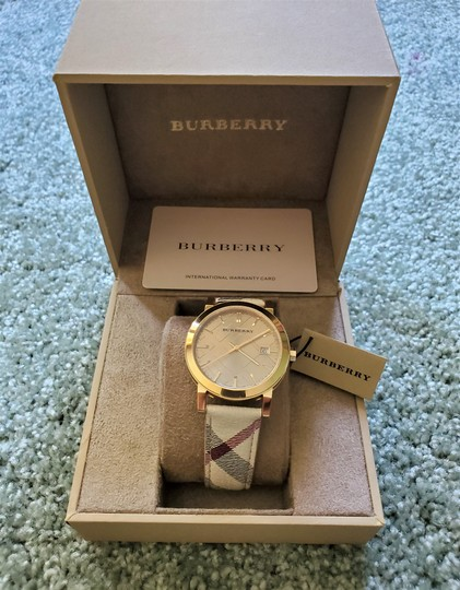 Burberry New Burberry Women's Bu9026 The City Haymarket Check Watch Image 6
