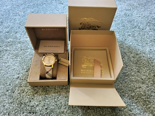 Burberry New Burberry Women's Bu9026 The City Haymarket Check Watch Image 7