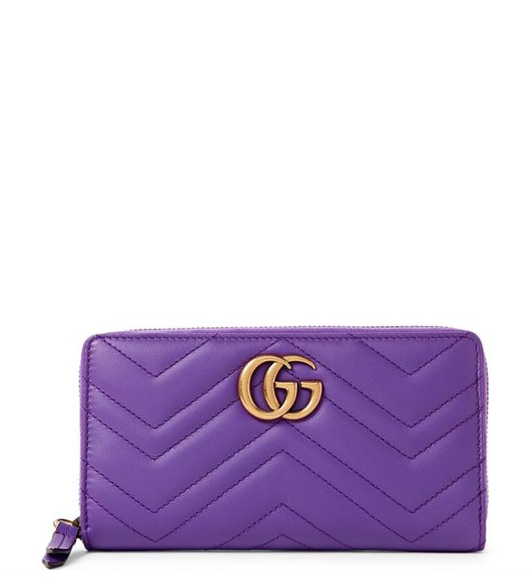 Item - Marmont Quilted Wallet Purple Leather Wristlet