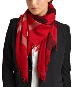 Burberry Burberry Color Check Wool Square Scarf