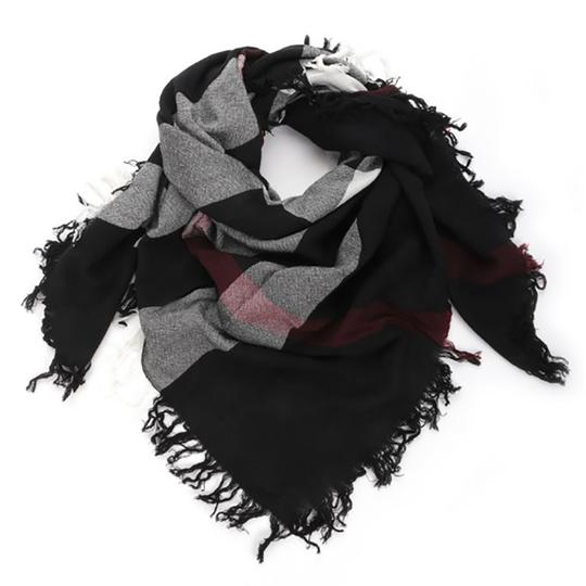 Preload https://img-static.tradesy.com/item/25980029/burberry-black-color-check-wool-square-scarfwrap-0-0-540-540.jpg