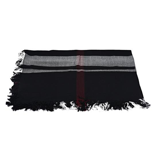 Burberry Burberry Color Check Wool Square Scarf Image 2