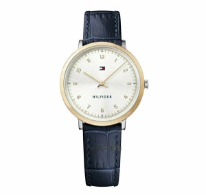 Tommy Hilfiger Tommy Hilfiger Women's Gold Dial Blue Leather Strap Watch