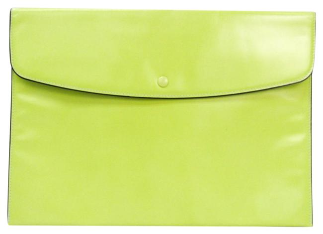 Item - Unisex Lime Yellow Leather Clutch