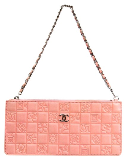 Icon Women's Handbag Pink Leather Satchel by Chanel