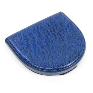 Valextra Valextra V0L89 Unisex Embossed Leather Coin Purse/coin Case Royal Blue