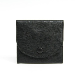 Valextra Valextra V0L90 Unisex Leather Coin Purse/coin Case Black