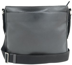 Prada Calfskin Leather Darkgrey Messenger Bag