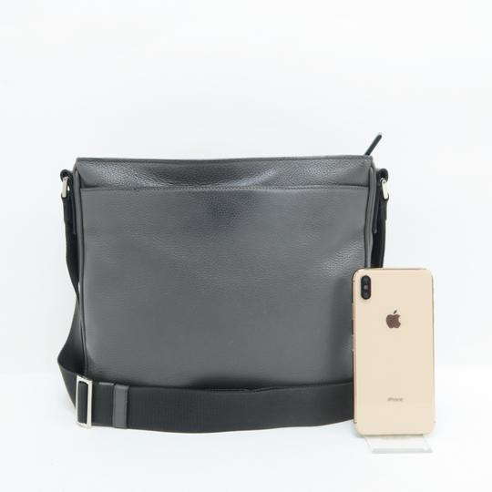 Prada Calfskin Leather Darkgrey Messenger Bag Image 1