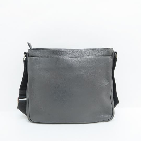 Prada Calfskin Leather Darkgrey Messenger Bag Image 2