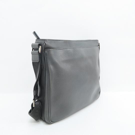 Prada Calfskin Leather Darkgrey Messenger Bag Image 4