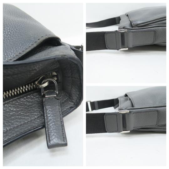 Prada Calfskin Leather Darkgrey Messenger Bag Image 8