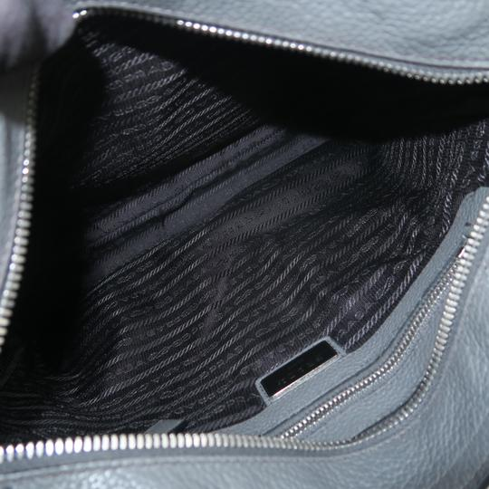 Prada Calfskin Leather Darkgrey Messenger Bag Image 9