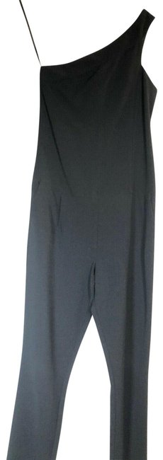 Item - Black Bcbg One Shoulder Jumpsuit Mid-length Casual Maxi Dress Size 6 (S)
