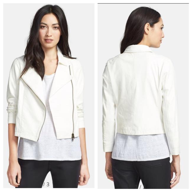 Item - Cement Lamb Leather Moto Jacket Size 6 (S)