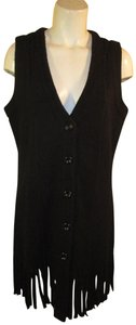 For Cynthia Wool Knit Sweater Fringed Onm001 Vest