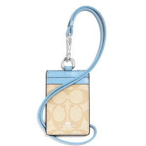 Coach Monogram Logo Lanyard Card Holder ID Card Wallet Necklace