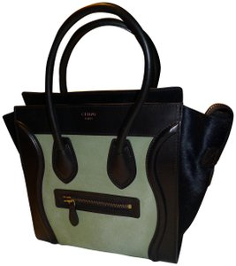 Céline Satchel in BLACK BLUE GREEN