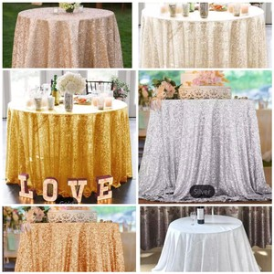 "New 120"" Diameter Sequin Color Choices Party Bulk Discounts Tablecloth"