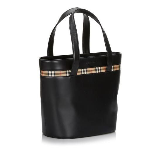 Burberry 9hbuto007 Vintage Leather Tote in Black Image 1