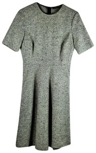 Zara Fit And Flare Tweed Knit Dress