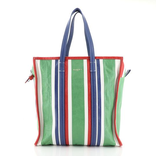 Preload https://img-static.tradesy.com/item/25981300/balenciaga-bazar-striped-medium-multicolor-leather-tote-0-0-540-540.jpg
