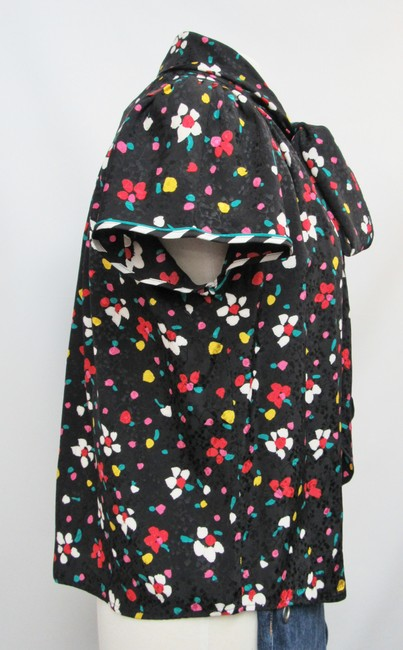 Marc Jacobs Silk Floral Buttons Top Black Image 4