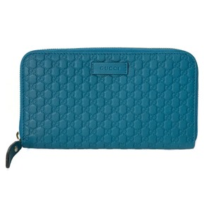 Gucci NEW GUCCI 449391 Microguccissima Zip Around Leather Wallet