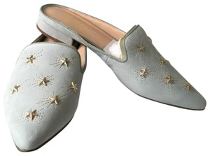 Franco Sarto Blue suede with silver stars Mules