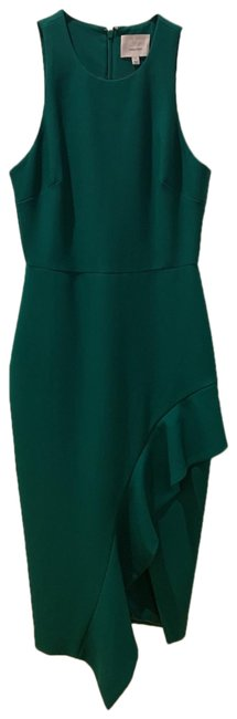 Preload https://img-static.tradesy.com/item/25981734/cinq-a-sept-green-form-hugging-mid-length-cocktail-dress-size-4-s-0-1-650-650.jpg