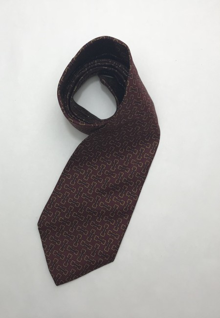 Item - Red and Yellow Christian with Horse Bit Print Tie/Bowtie