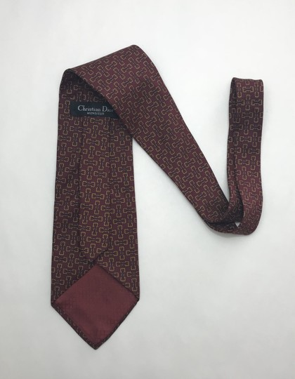 Dior Red and Yellow Christian with Horse Bit Print Tie/Bowtie Image 2