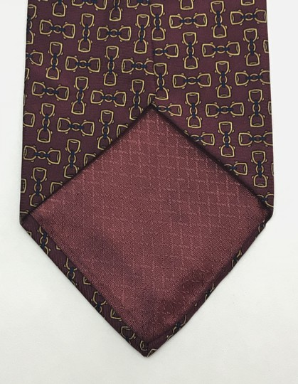 Dior Red and Yellow Christian with Horse Bit Print Tie/Bowtie Image 4