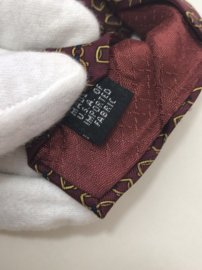 Dior Red and Yellow Christian with Horse Bit Print Tie/Bowtie Image 5