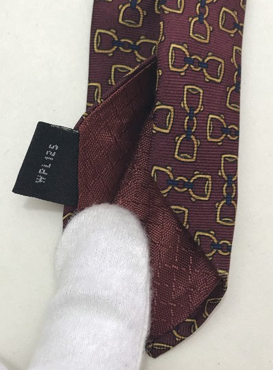 Dior Red and Yellow Christian with Horse Bit Print Tie/Bowtie Image 6