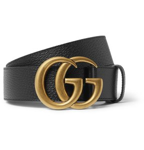 Gucci 4cm Black Full-Grain Leather Belt EU100/US34