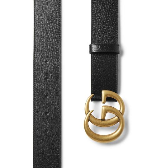 Gucci 4cm Black Full-Grain Leather Belt EU100/US34 Image 1