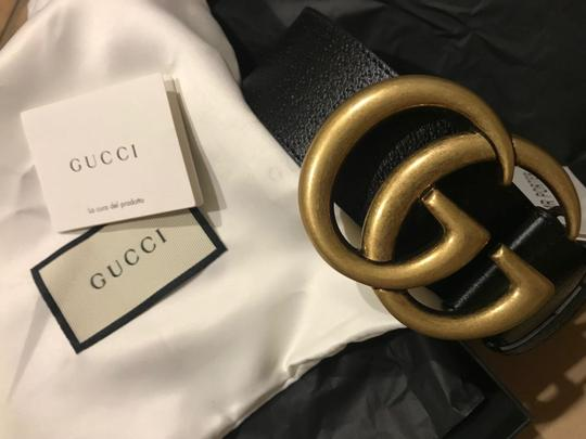 Gucci 4cm Black Full-Grain Leather Belt EU100/US34 Image 2