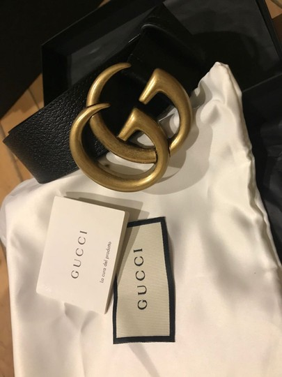 Gucci 4cm Black Full-Grain Leather Belt EU100/US34 Image 3