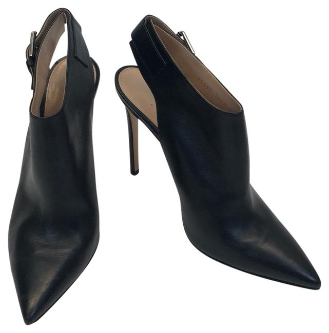 Item - Black Leather Pointed Toe Heel Boots/Booties Size EU 39.5 (Approx. US 9.5) Regular (M, B)