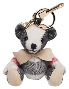 Burberry NWT BURBERRY THOMAS MONST KEY CHARM KEY RING CHECK CASHMERE - item med img