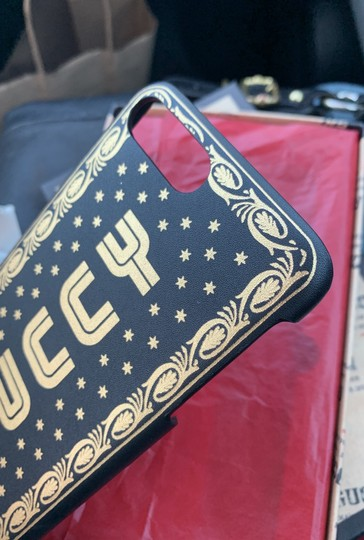 Gucci Gucci guccy black and gold leather iPhone 7 and 8 Plus case cover. Image 7